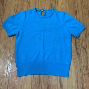 United Colors of Benetton Wool Cobolt Blue Sweater